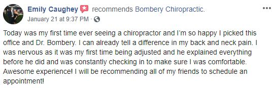 Bombery Chiropractic Patient Testimonial